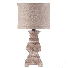 Small Creamy Casual Mini Accent Table Lamp