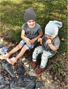 ripped jeans & beanies- I know they are boys, but sometimes I dress like a boy and Harper probably will too <3