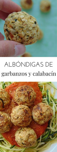 Albóndigas de garbanzos al horno con calabacín Veggie Recipes, Real Food Recipes, Soup Recipes, Vegetarian Recipes, Healthy Recipes, Diet Recipes, Clean Eating Vegetarian, Healthy Eating, Healthy Dishes