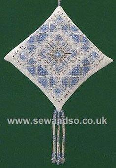Buy Ice Blue Snowflake Kit Cross Stitch Kit Online at www.sewandso.co.uk