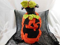 Halloween Dog Costume Pumpkin Plush Puffy Stuffed  L   X-L  New #Target