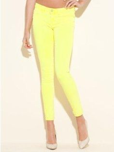 GUESS Brittney Ankle Skinny Jeans - Neon Color from my Wanelo collection