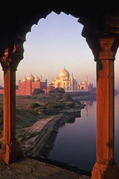 Photograph - Taj Mahal At Sunrise by Michele Burgess , Taj Mahal India, Le Taj Mahal, Agra, The Places Youll Go, Places To See, Beautiful World, Beautiful Places, Amazing India, Havana Cuba