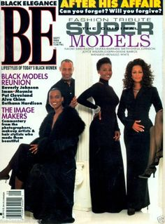 Black Elegance Magazine 1996 - Naomi Sims, B. Smith and Sheila Johnson
