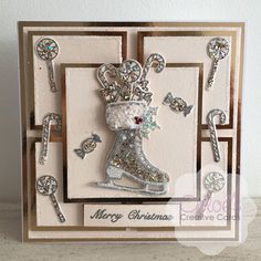Chloes Creative Cards Craft, Cardmaking and Papercraft Supplies Chloes Creative Cards, Creative Christmas Cards, Christmas Cards 2018, Christmas Tag, Xmas Cards, Christmas Stuff, Skates, Stamps By Chloe, Create And Craft Tv