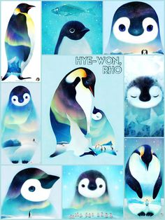 All About Penguins, Cute Penguins, Penguin Art, Penguin Love, Cute Dog Drawing, Cute Drawings, Winter Art Projects, Baby Tattoos, Cute Wallpapers
