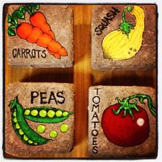 The awesome vegetable garden markers my hubby and I made for my mom for mothers day! I am thankful he is so artistic!
