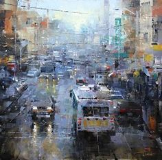 San Francisco Blue and Gray by artist Mark Lague. #artwork found on the FASO Daily Art Show - http://dailyartshow.faso.com