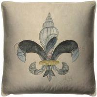 Vintage Fleur De Lis Shell 1 Pillow