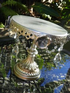 DIY Tiered Serving Trays | DIY Cake Stand – {Gorgeous} centerpiece made from an old Chandelier