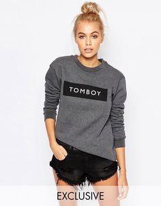 Adolescent+Clothing+Boyfriend+Sweatshirt+With+Tomboy+Print