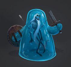 jelly zombie, Igor Asanov on ArtStation at http://www.artstation.com/artwork/jelly-zombie