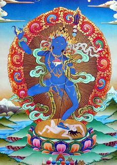Gyuma Chenmo is the Dakini of dream. Wich is invoked and visualized in dreamyoga-practice
