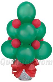What about a balloon Christmas tree? We love this idea based on an original design by John Miller of Balloons Galore. You can make a big tree with Quick Links as well!  #Christmas #balloon #centerpiece #christmastree