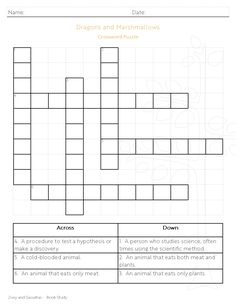 Question sheet judy moody girl detective judy moody zoey and sassafras crossword puzzle included in book study ccuart Gallery