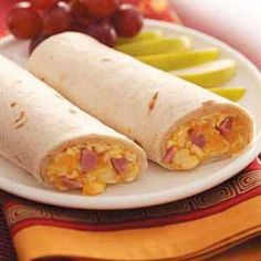 """""""Breakfast Wraps""""  """"We like quick and simple morning meals during the week—and these wraps are great when prepared ahead of time,"""" explains Betty Kleberger from Florissant, Missouri. """"With just a minute in the microwave, breakfast is ready."""""""