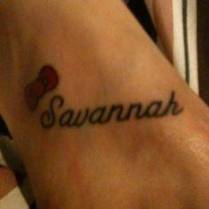 Savannah / Hello Kitty tattoo