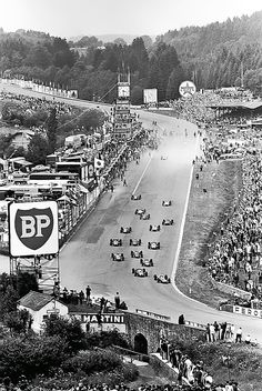 Start of the 1960 Belgian Grand Prix (Spa-Francorchamps)