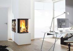 Panoramakamine von Brunner - Feuer von 3 Seiten