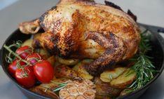 Zitronen-Knoblauch-Hähnchen+vom+Drehspieß Grilling, Turkey, Meat, Bbq, Food, Garlic, Treats, Food Portions, Cooking