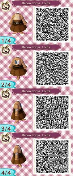 Animal Crossing Tea Party QR Codes