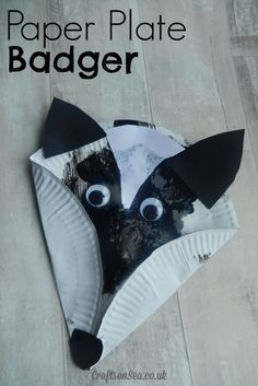 This cute paper plate badger is a fun craft for kids and perfect for those learning about forest animals or woodland animals.