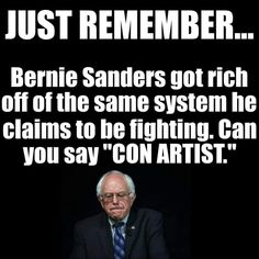 "Can you say ""Hypocrite. Evil People, Stupid People, Political Quotes, Political Satire, Liberal Logic, Conservative Politics, True Facts, Socialism, Bernie Sanders"