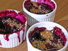 Berry Crumble IS Summer :) Made this with blackberries and blueberries and baked in my oblong (green) Le Crueset. Added more blackberries and more butter to the crumble. Worked out great.