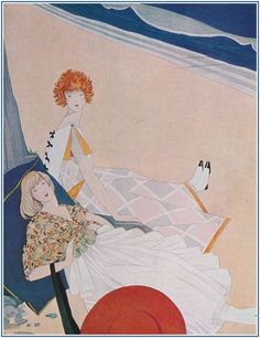 New item in my etsy shopFrench Vogue fashion cover illustration pretty girls on beach reproduction by PanchromaticaDesigns. Find it here http://ift.tt/2f7N3zH