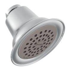 "Chrome one-function 3-3/8"" diameter spray head easy clean xlt showerhead"