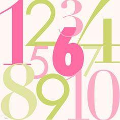 Modern Numbers - Pink   www.sweetnsourkids.com