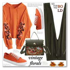 """Sporty Chic Vintage Florals"" by jecakns ❤ liked on Polyvore featuring vintage"