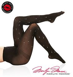 8acc16816 Marilyn Monroe Women Fashion and Embellished Pantyhose Tights Stockings