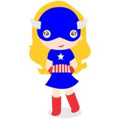 Estampa para camiseta Capitão América Kids 002064