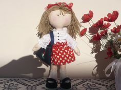 Clementina sweet rag doll handmade handmade by lalarossa on Etsy