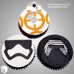 Star Wars The Force Awakens Cupcakes | 2D relief BB-8, Kylo Ren & First Order Stormtrooper Cupcakes | Cakes by The Regali Kitchen