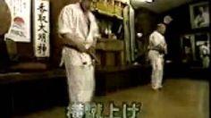 Sosai Mas Oyama kicking at Honbu Dojo,