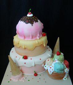 Icecream wedding cake