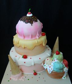 Icecream wedding cake  For more insipiration visit us at https://facebook.com/theweddingcompanyni or http://www.theweddingcompany.ie
