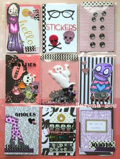 pocket letter pals | Pocket Letter & Altered Envelope. ***I ABSOLUTELY LOVE this POCKET-LETTER!!  The Gouls and Spooky theme is AMAZING and I Love how its put together!!