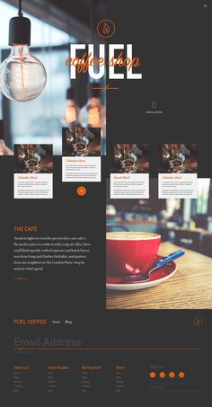 layout Coffee shop site template Utility Pad And Utility Pad Holder Information Site Web Design, Website Design Layout, Web Layout, Layout Design, Blog Layout, Design Food, Design Café, Menu Design, Design Ideas