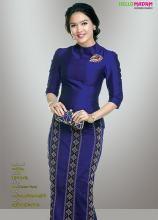 Myanmar Fashion Catalog and Gems and Jewelry Catalog. Kebaya Modern Dress, Kebaya Dress, Traditional Dresses Designs, Traditional Fashion, Filipiniana Dress, Myanmar Dress Design, Myanmar Traditional Dress, Batik Fashion, Thai Dress