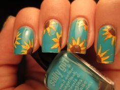 Jessica's Nail Art: Sunflowers In The Sky