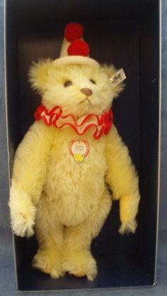 SALE ITEM Vintage Steiff Teddy Clown Bear 017032 by Sarahsgems, ║✿ pinned by Colette's Cottage ✿