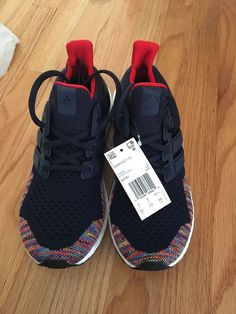 a8d207a54ae8e adidas ultraboost 1.0 multicolor navy sz 9.5  fashion  clothing  shoes   accessories