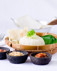 Coconut Milk Rice, also known as Nasi Lemak or Nasi Uduk ... in Indonesia, Malaysia & Singapore
