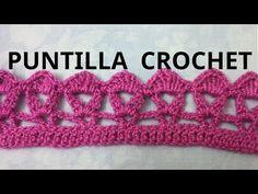 Puntilla N° 24 en tejido crochet tutorial paso a paso. - YouTube