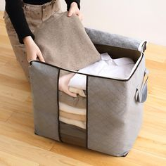 USA Portable Foldable Storage Bag Little House Canvas Organizer Basket Cloth Toy