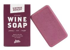 Wine Soap Vintage Merlot Boxed All Natural Made In Usa Actually Smells Good Perfect Lover Gift Mom