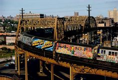 The Number 6 Train in the Bronx ~ Approx 70s or 80s. │FB